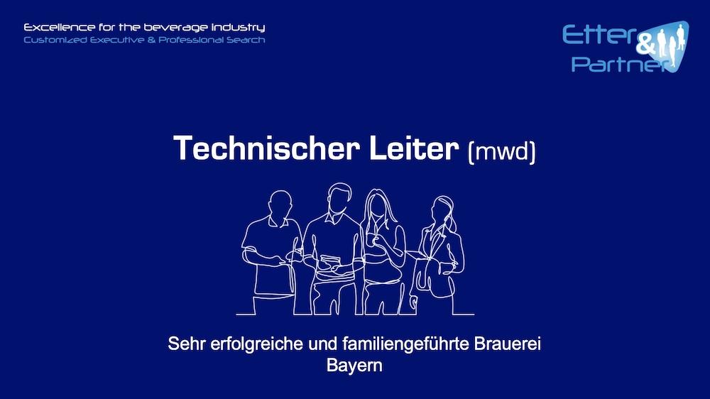 Technischer Leiter (m/w/d) Brauerei
