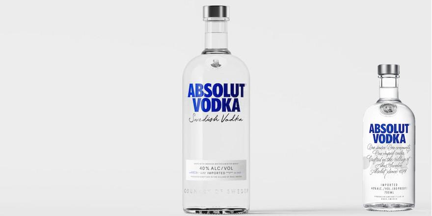 Absolut Vodka in völlig neuem Look