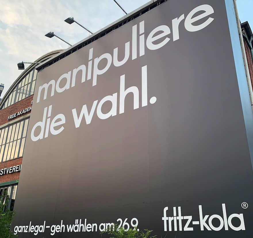 Fritz-Kola ruft zum Wählen auf